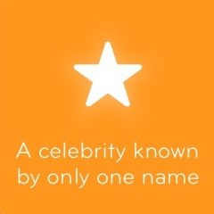 A celebrity known by only one name 94