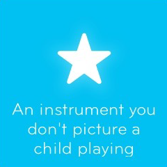 An instrument you don't picture a child playing 94