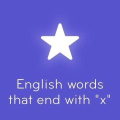 English words that end with x 94