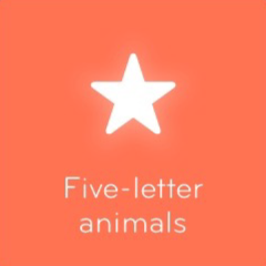 Five letter animals 94