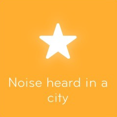 Noise heard in a city 94