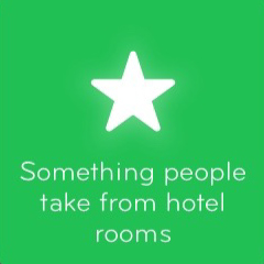 Something people take from hotel rooms 94