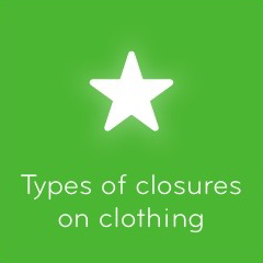 Types of closures on clothing 94