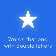 Words that end with double letters 94