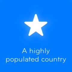 A highly populated country 94