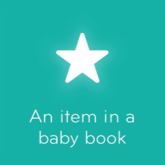 An item in a baby book 94