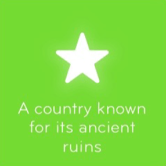 A country known for its ancient ruins 94