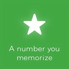 A number you memorize 94