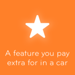 A feature you pay extra for in a car 94