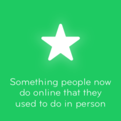 Something people now do online that they used to do in person 94