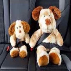 94 Respuestas imagen perros de peluche con cinturón de seguridad
