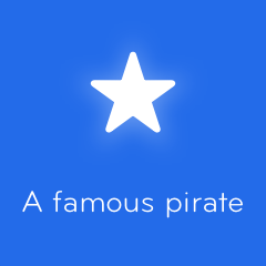 A famous pirate 94