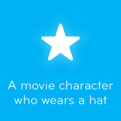A movie character who wears a hat 94