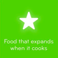 Food that expands when it cooks 94