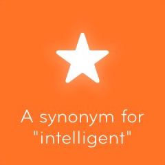 A synonym for intelligent 94