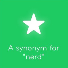 A synonym for nerd 94