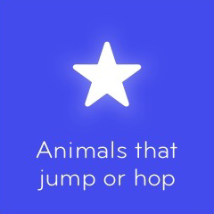 Animals that jump or hop 94