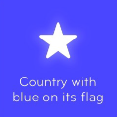 Country with blue on its flag 94