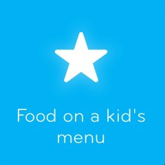 Food on a kid´s menu 94