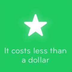It costs less than a dollar 94