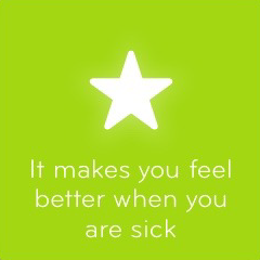 It makes you feel better when you are sick 94