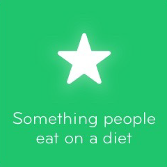 Something people eat on a diet 94