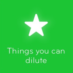 Things you can dilute 94