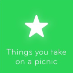 Things you take on a picnic 94