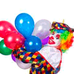 94 clown balloons picture