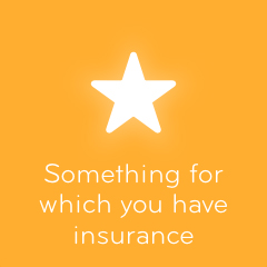 Something for which you have insurance 94