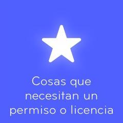 94 Cosas que necesitan un permiso o licencia