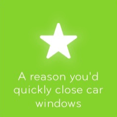 A reason you'd quickly close car windows 94