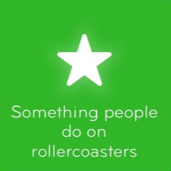 Something people do on rollercoasters 94