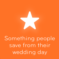Something people save from their wedding day 94
