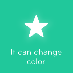 It can change color 94