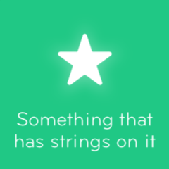 Something that has strings on it 94