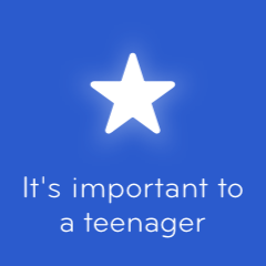 It's important to a teenager 94