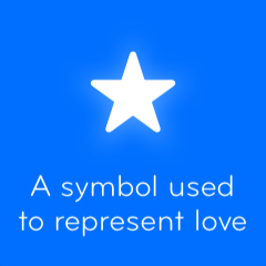 A symbol used to represent love 94
