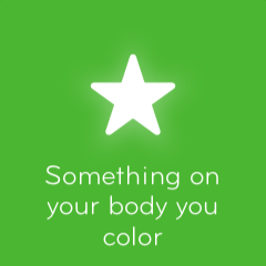 Something on your body you color 94