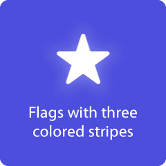Flags with three colored stripes 94