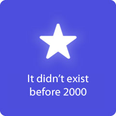 It didn't exist before 2000 94
