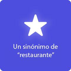 Un sinónimo de restaurante 94