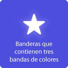 Banderas que contienen tres bandas de colores 94