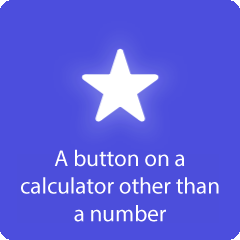 A button on a calculator other than a number 94