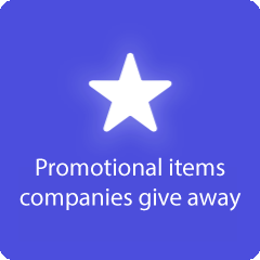 Promotional items companies give away 94