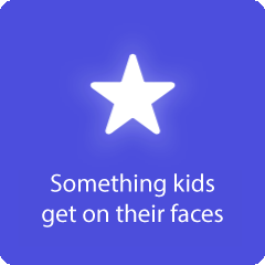 Something kids get on their faces 94